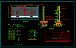 دانلود نقشه اتوکد سازه دیوار محوطه